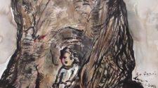 Ağacın Ruhu, Kağıt Üzerine Mürekkep, 50-35 cm, 2013