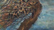 Poyraz Ağacı, Kağıt Üzerine SuluBoya, 36-48 cm, 2013
