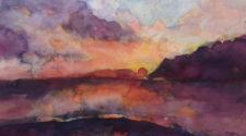 Sanit-Leu'de Günbatımı, Kağıt Üzerine Suluboya, 30-40 cm, 2013