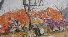 Yeniyıl ve Flamboyanlar, Kağıt Üzerine Suluboya, 36-48 cm, 2013