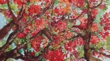 Flamboyanlar, Kağıt Üzerine Karışık Teknik, 30-40 cm, 2013