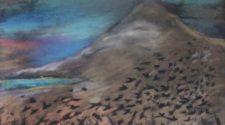 Göztepe ve Kargaları, Kağıt Üzerine Karışık Teknik, 29-41 cm, 2013