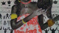 Réunion ve Kadın, Kağıt Üzerine Mürekkep, 65-50 cm, 2013