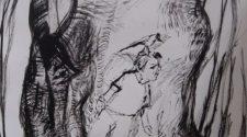 Saklambaç, Kağıt Üzerine Mürekkep, 50-35 cm, 2013